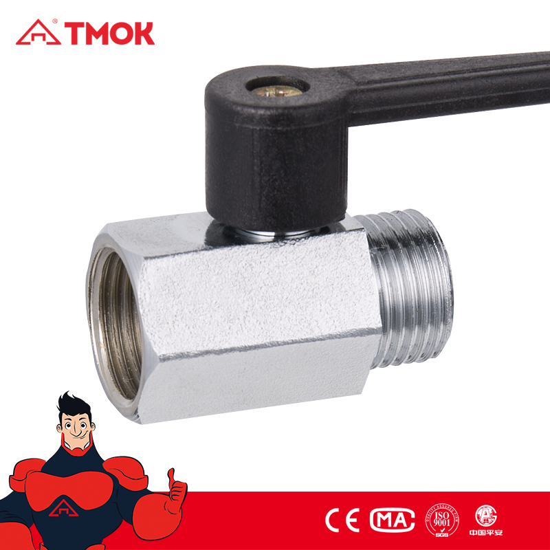 Forged brass female mini brass Gas ball valve T Type Aluminum Handle