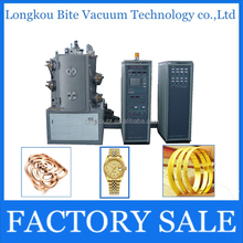 Rose gold pvd coating machine/ 18K imitation jewelry vacuum sputtering deposition system