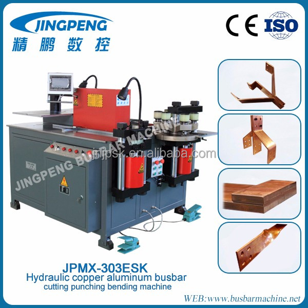 CNC hydraulic copper bus bar cutter busbar bending cropping piercing machine