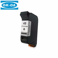 Best offer remanufactured inkjet printer 51645a empty cartridge for HP 45