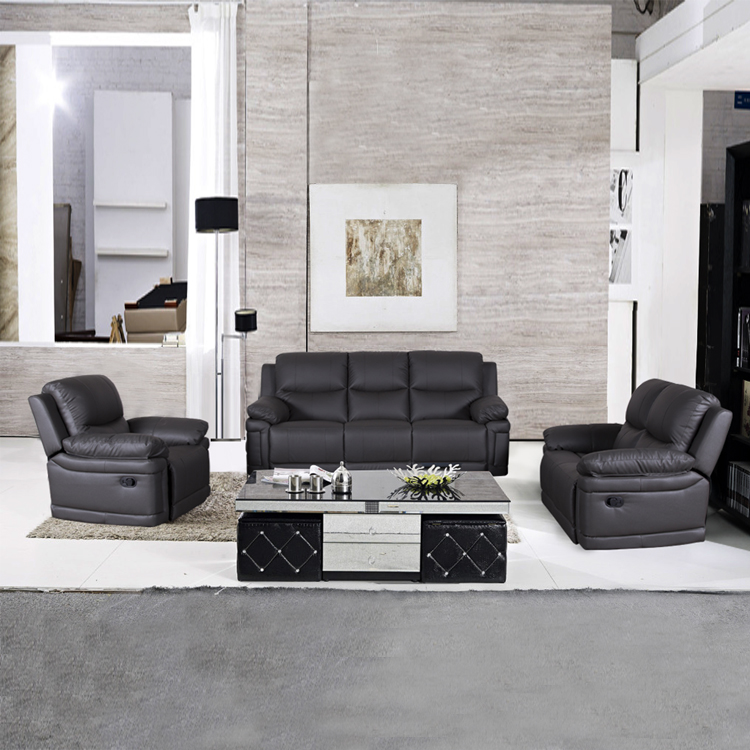 Modern living room sofa sets , recliners sets sofa upholstery abric double recliner sofa