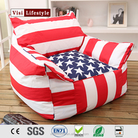 2016 new bean bag chairs wholesale, printing Polyester pvc bean bag chair