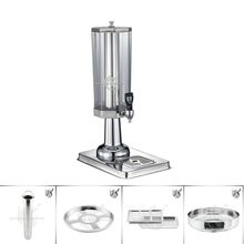 Factory Coo Juice Stainless Steel Base Plastic Beverage Dispenser