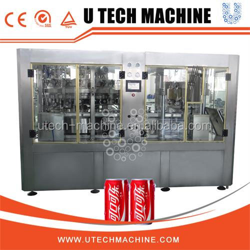 Efficient manufacturer stainless steel sprite can/carbonated drinks filling plant with CE certification