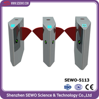 Biometic Security Electronic Access Swing Control Flap Gate Turnstile Barrier