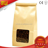 heat seal foil lined kraft paper coffee packaging bags