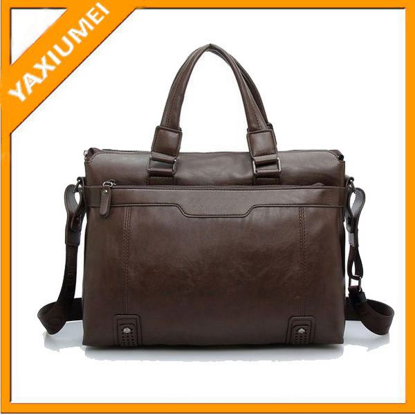 2014 Luxurious leather men briefcase