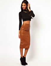 China manufacturer high quality factory price modesty PU leather lady skirt