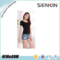 high quality cotton spandex fitted t-shirts for women, fashion style blank tshirts wholesale