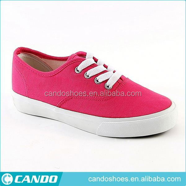 promotional stock shoe women cheap casual canvas sneakers with tpr injection sole