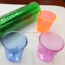 Decorative 1OZ Disposable Plastic mini wine shot glass
