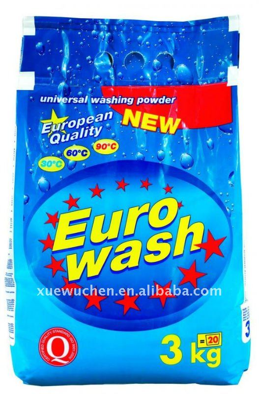 Hot selling detergents with different perfume(3kg EURO WASH)