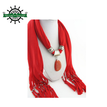 Fashion jewelry necklace pendant scarf