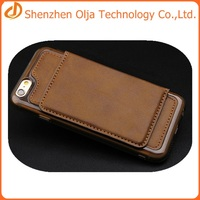 new style tpu+pu leather phone case cover for iphone 6s,for iphone 6s credit card case