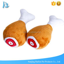 Wholesale Custom Stuffed Funny Drumstick Plush Dog Chew Toy
