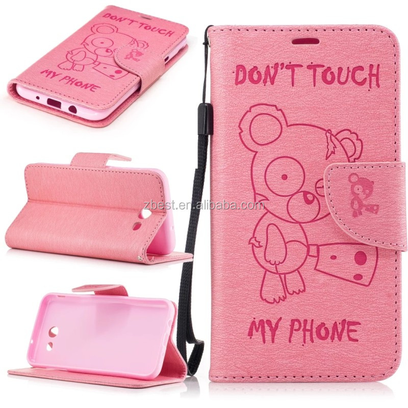 Bear Cover Flip PU Wallet Leather Mobile Phone Case For iPhone 6 6Plus 7 7Plus Cellphone Stander Accessory