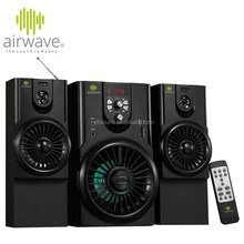 airwave 2.1 bluetooth stereo speaker with subwoofer with USB/SD/FM /AC/DC 12V function with CE/RoHS Certificate