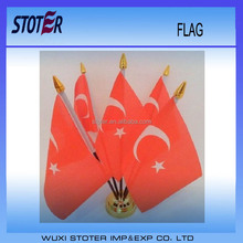 TURKEY Turkish Desk Top Table Country Flag - New