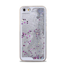 Transparent TPU phone cover Flowing 3D Star Liquid Phone case Liquid Case for iPhone 6 4.7inch