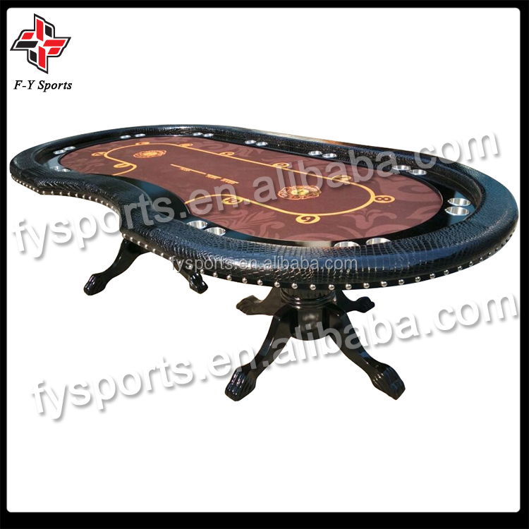 luxury round poker table customized Texas poker table with cupholder