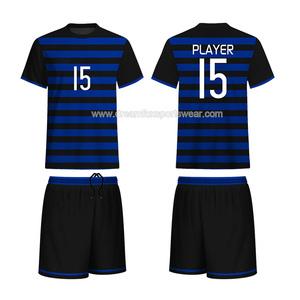 OEM custom made plain blank soccer jerseys football shirt 100%polyester  sublimation cheap striped soccer f24b0d91b