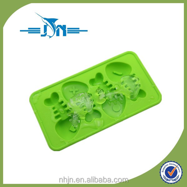 Funny Fish Bone Shaped Flexible Silicone Ice Cube Tray