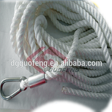 Long life 12mm pp multifilament solid braid rope