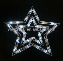 "15"" Cool White LED Lighted Star Christmas Window Silhouette Decoration"