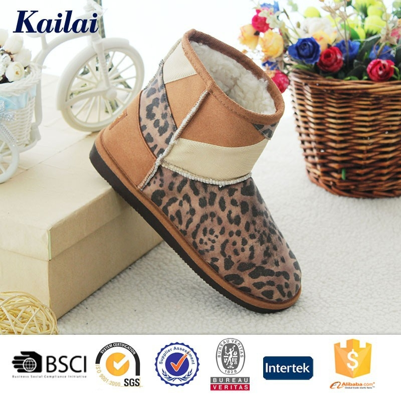 high quality supplier for winter warm luxury women PU boot
