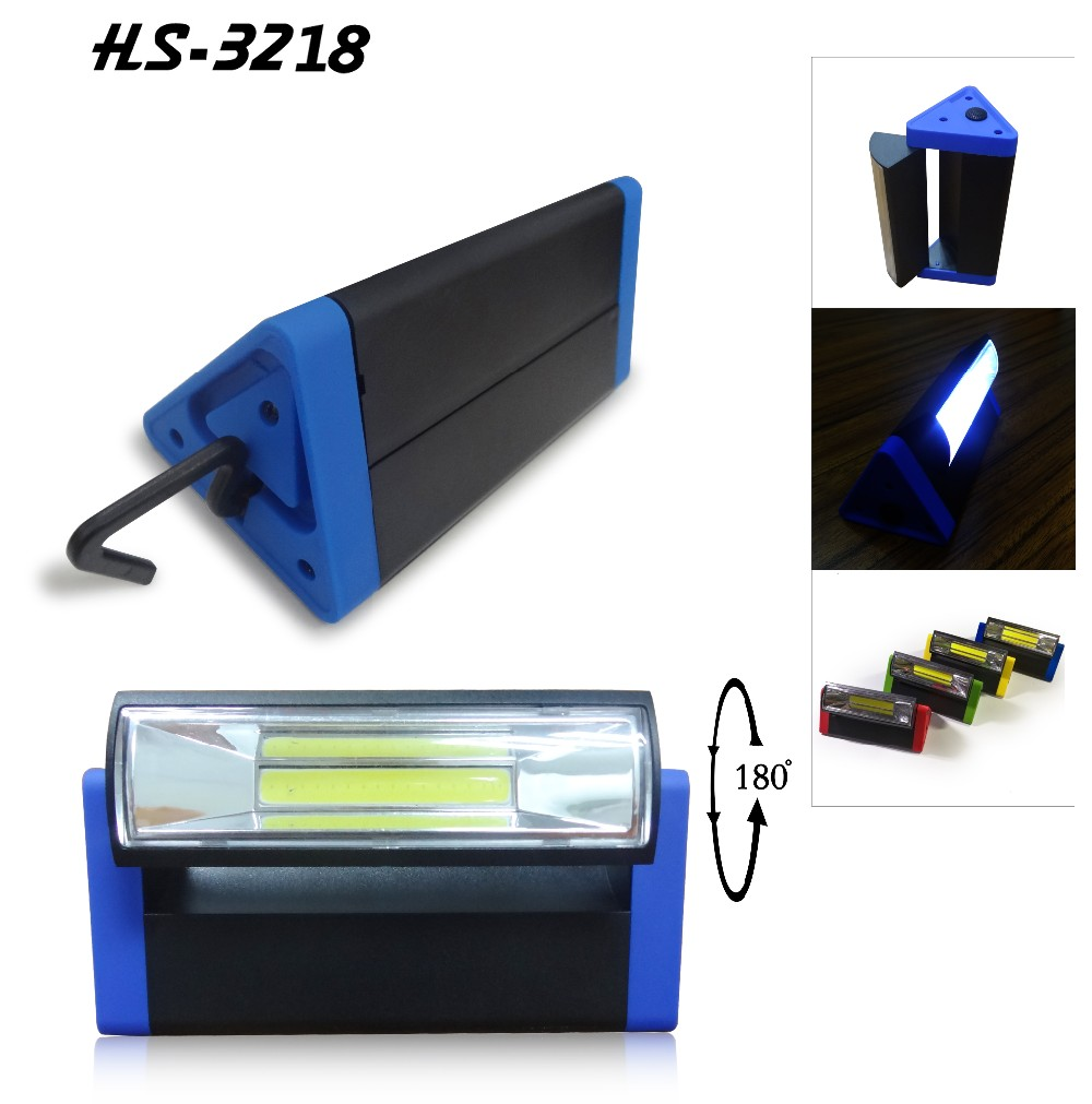 Rotating triangle magnet desk led light with hook