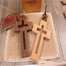 A&J Catholic Jesus small Wood Crosses Keychain Cross designs/carved