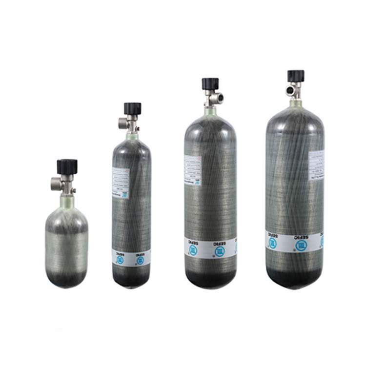 3L 6.8L 9L Wrapped Carbon Fiber Air Tank Composite Gas <strong>Cylinder</strong>