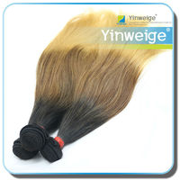 wholesale beautiful color two tone ombre remy hair weaving