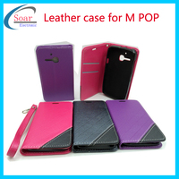 Wholesale Ultra Thin Strong Magnetic Leather Flip Hard Full Case For Alcatel once touch M POP
