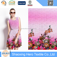 Fahion Zhang Ziyi summer dress lace fabric ,cool polyester lace for girl dress