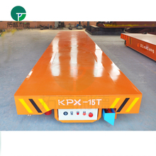 steel tube battery power flatbed rail car from one line to another