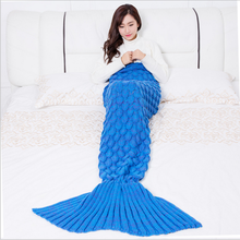 100%acrylic fibers cheap scale mermaid tail blanket wholesale
