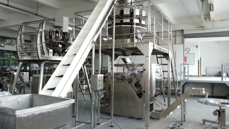 automatic packaging line for big target weight