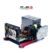 PC-JMK6 Mini ITX Custom Wide Open Nude Bare Frame Aluminum Chassis Open Air Computer Case Rugged