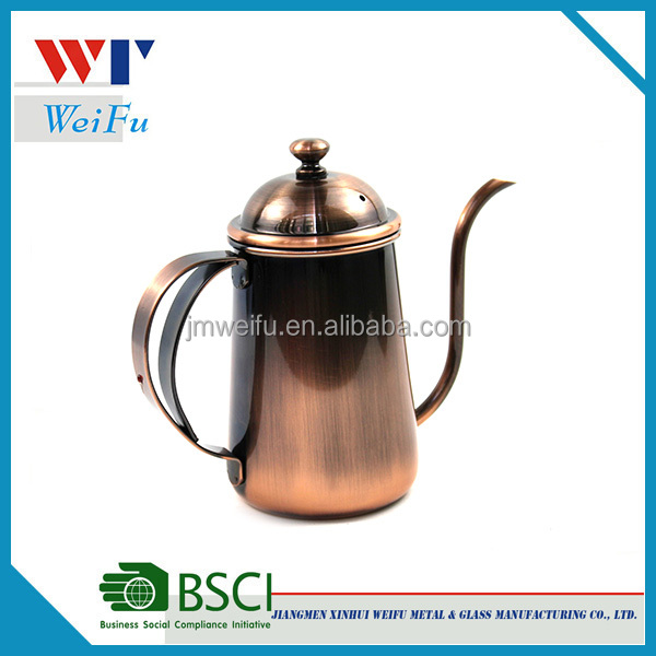 Stainless steel copper coffee pot / coffee drip kettle