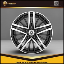 ZUMBO R0001 Black Machine Face New design High Quality Car Rim Aluminum Alloy Wheel car wheel rims wheels