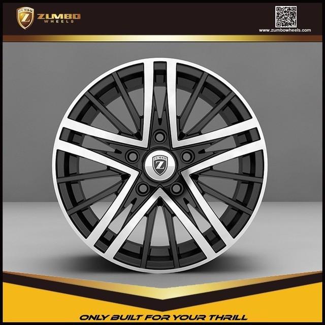ZUMBO R0001 Black Machine Face New design High Quality Car Rim Aluminum Alloy Wheel car wheel rims wheels