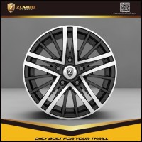 ZUMBO R0001 New design High Quality Black Machine Face Car Aluminum Alloy Wheel Rims