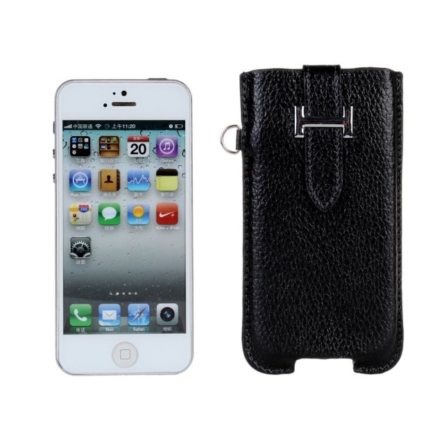 Luxury brand K-COOL Original Real Cowhide Genuine Leather pouch For iphone 5S 5 real leather cover iPhone 5 pouch