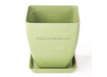 Eco friendly Plant Fiber Planter Biodegradable Flower pot, Bamboo rice hull planter