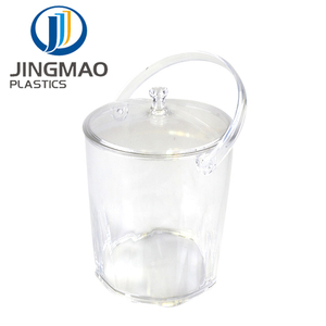bpa free Transparent Acrylic Beer plastic ice bucket With Lid