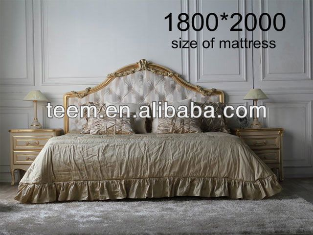 2014 Divany european classic bedroom set king/cal king adjustable hotel bed base wooden furniture bed BA-1407