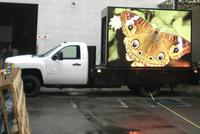 SRY truck mobile led display mobile trailer led sign screen mobile phone led flash sticker