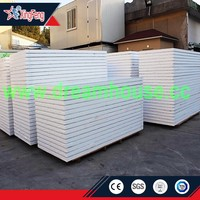 cheap China EPS sandwich panels for sale/Steel structure prefabricated sheds corrugated eps roofing panel manufacturer