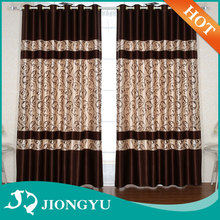 New Product High end American Style Flocking Colorful custom curtain